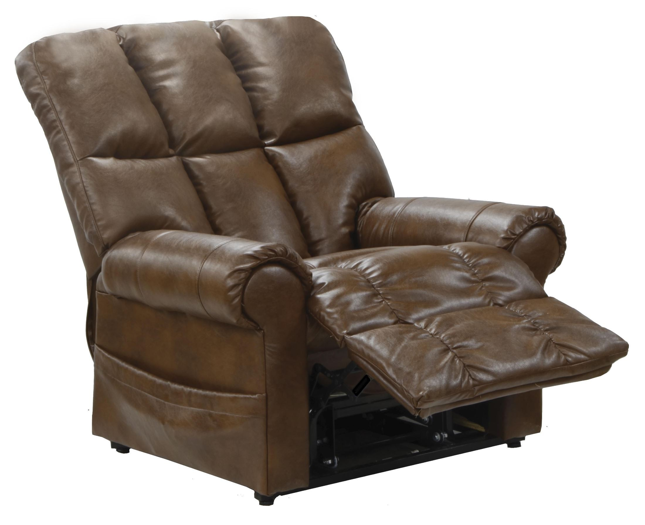 Lift Chairs Recliners Stallworth Chestnut Bonded Leather Power Lift Recliner