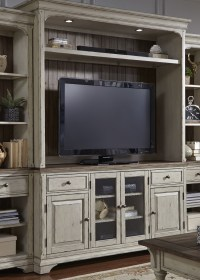 Morgan Creek Antique White Entertainment Center from ...