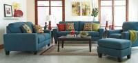 Sagen Teal Living Room Set from Ashley (9390238) | Coleman ...