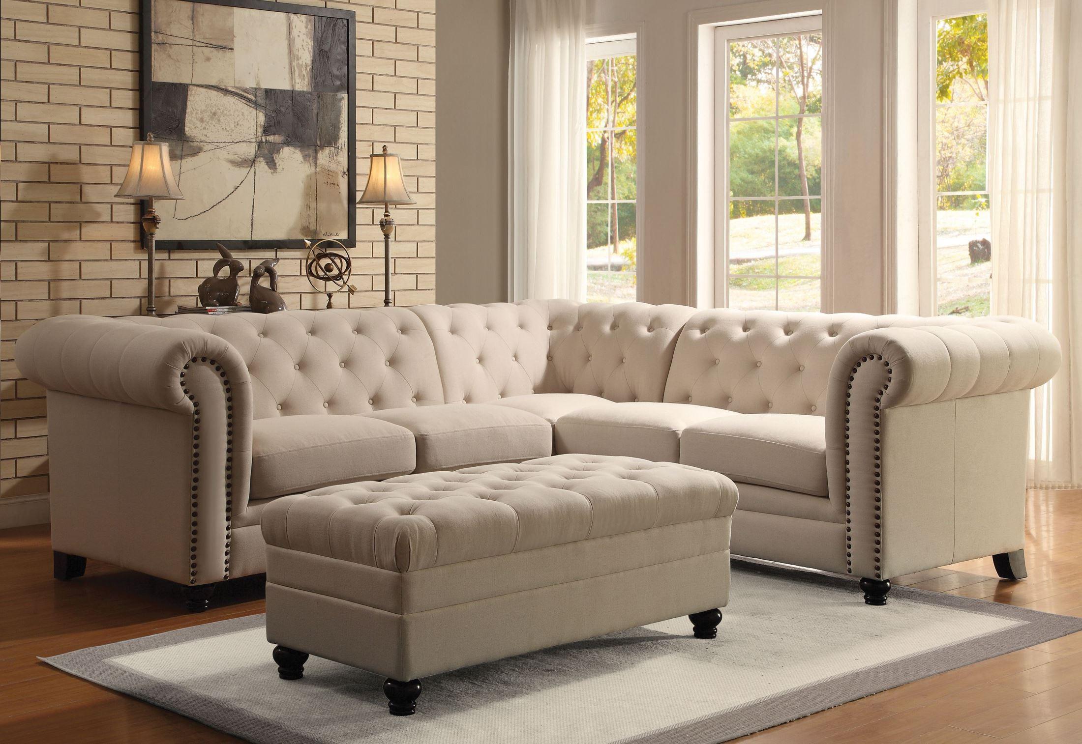 oatmeal sofa set italian sofas preston roy sectional from coaster 500222 coleman