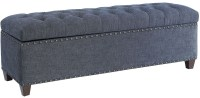 Indigo Fabric Storage Bench by Donny Osmond from Coaster ...
