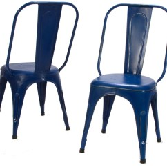 Blue Metal Chairs Lawn Amazon Amara Chair Set Of 4 From Homelegance 5034bues