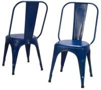 Amara Blue Metal Chair Set of 4 from Homelegance (5034BUES ...