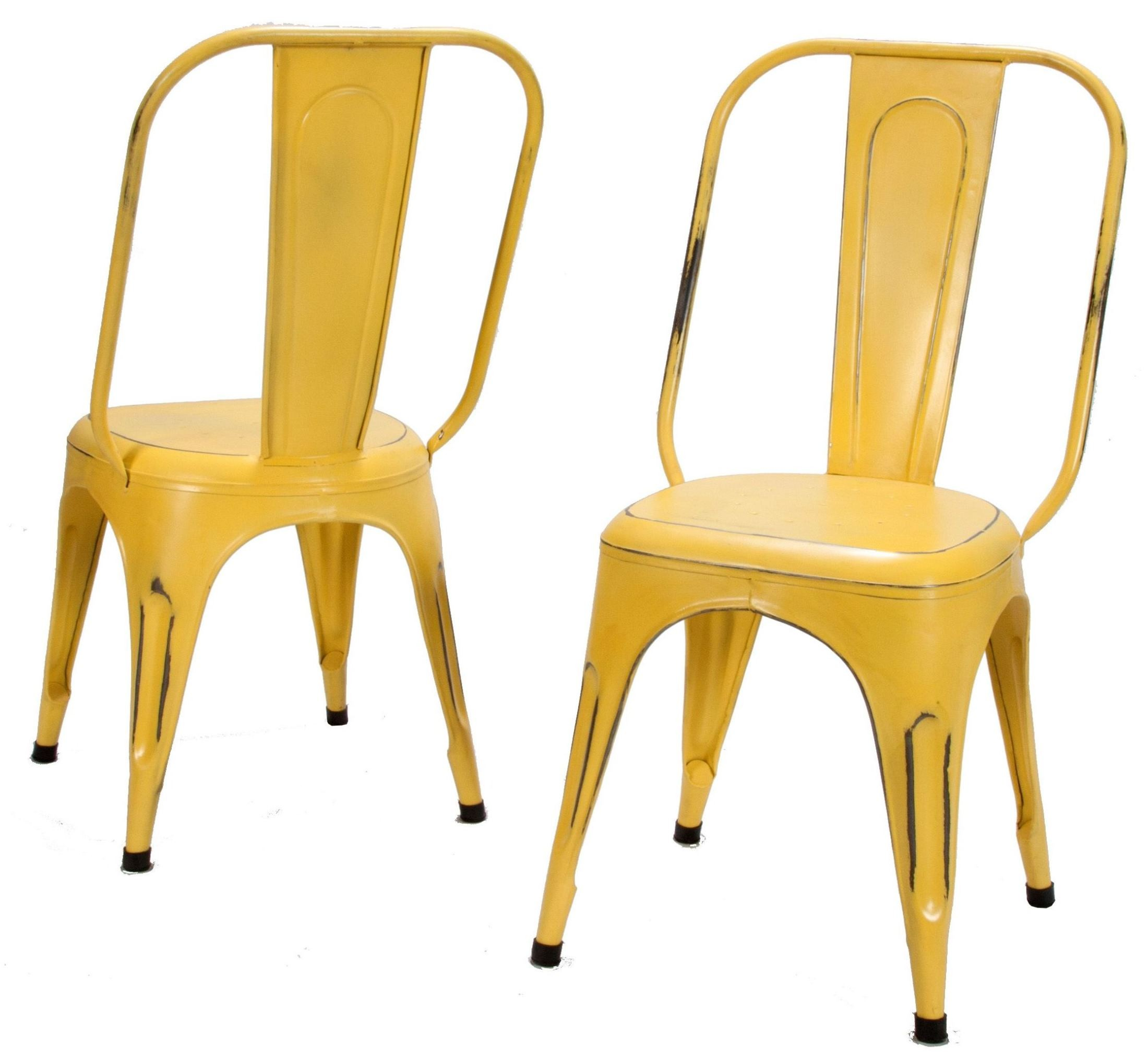 Yellow Metal Chairs Amara Yellow Metal Chair Set Of 4 From Homelegance