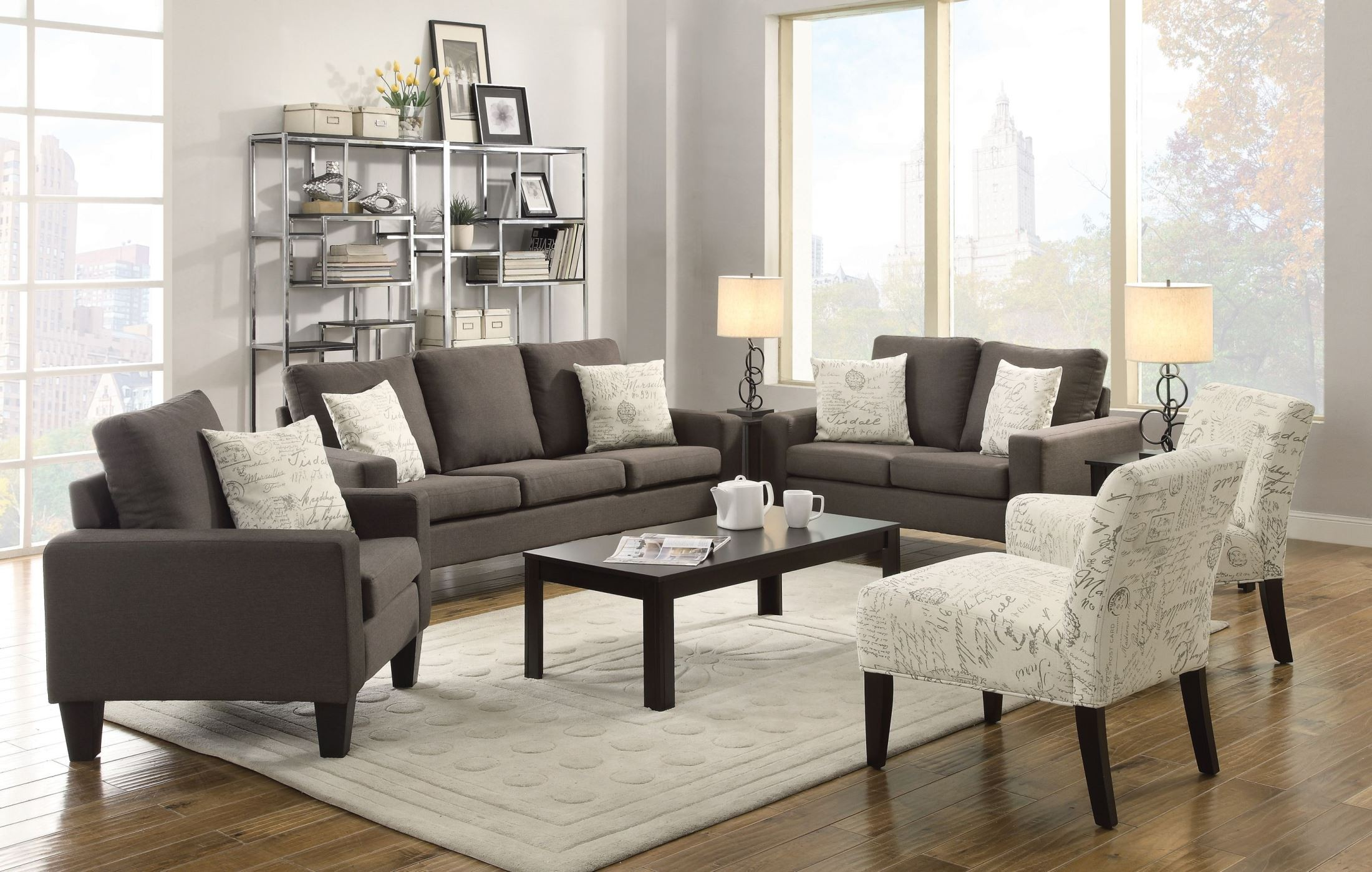Bachman Grey Living Room Set from Coaster 504764