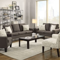 Grey Living Room Set Decorating Ideas For Rooms With Hardwood Floors Bachman From Coaster 504764 Coleman Furniture Set522829