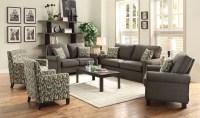 Noella Grey Living Room Set from Coaster (504781 ...