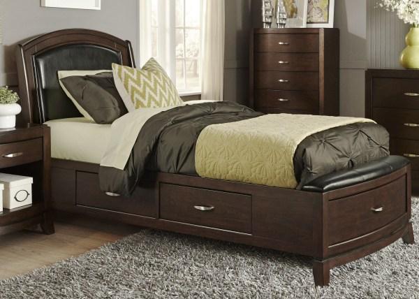Avalon Truffle Youth Sided Leather Storage Bedroom Set