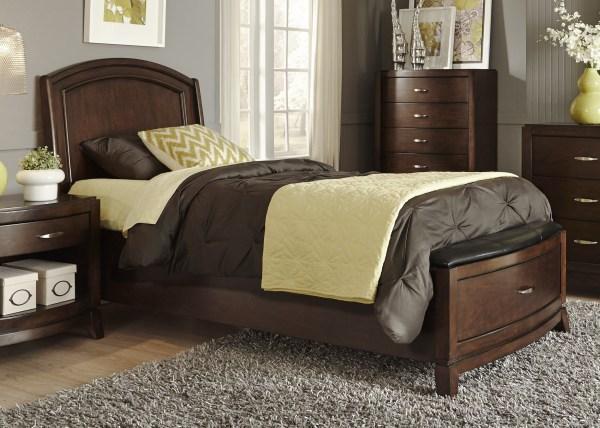 Avalon Truffle Full Leather Storage Bed Liberty 505