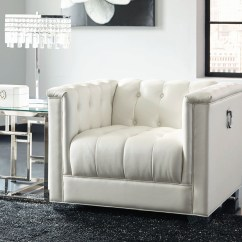 White Tufted Chair High Tables And Chairs Chaviano Pearl From Coaster Coleman