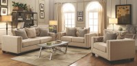 Lyonesse Beige Living Room Set from Coaster | Coleman ...