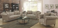 Alasdair Light Brown Living Room Set, 505571, Coaster ...
