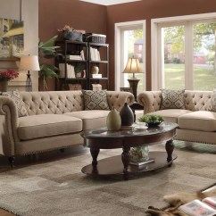 Oatmeal Sofa Set Air Mattress Bed Trivellato Living Room From Coaster 505821