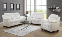 Finley White Living Room Set from Coaster | Coleman Furniture