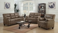 Meagan Brown Living Room Set, 506561-62, Coaster Furniture