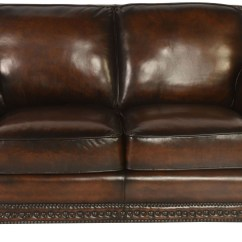 Next Brompton Leather Sofa Down Filled Pillows Prato Cocoa Loveseat Wh 5070 20 9021