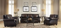 Prato Black & Tan Leather Living Room Set from Lazzaro (WH ...