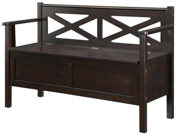 Lift-Top Storage Bench with Arms & Backrest, 508006 ...