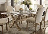 Luella Cool Weathered Oak Zinc Top Dining Table from ...