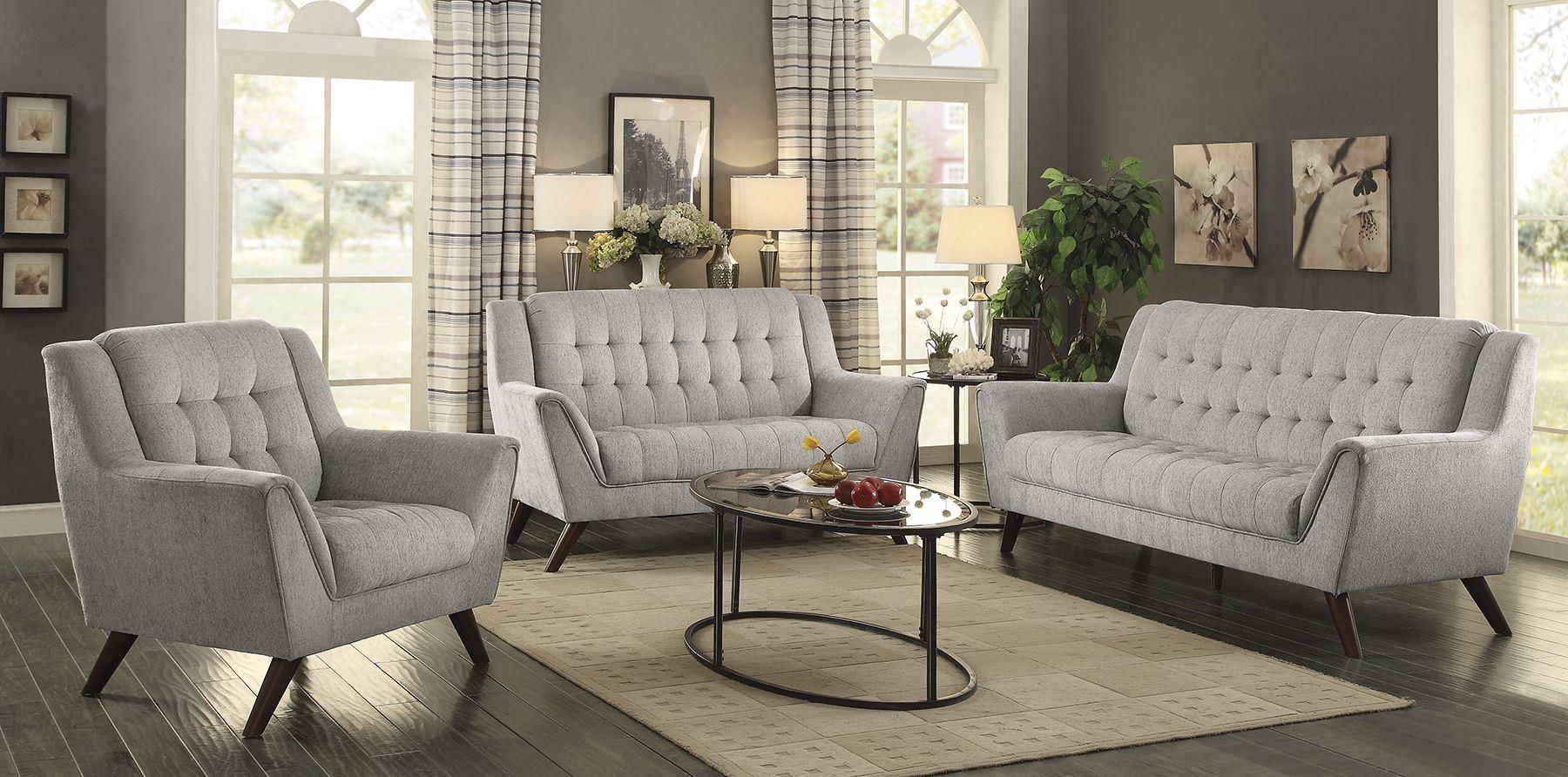 Baby Natalia Dove Gray Living Room Set from Coaster