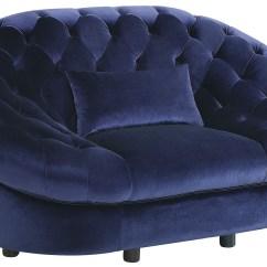 Living Room Chair Setup Small Colour Ideas 2018 Romanus Royal Blue Velvet From Coaster | Coleman ...