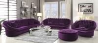 Romanus Purple Velvet Living Room Set, 511046, Coaster
