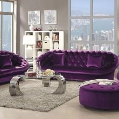 Purple Living Room Chair Farm Table Chairs Romanus Velvet Set 511046 Coaster