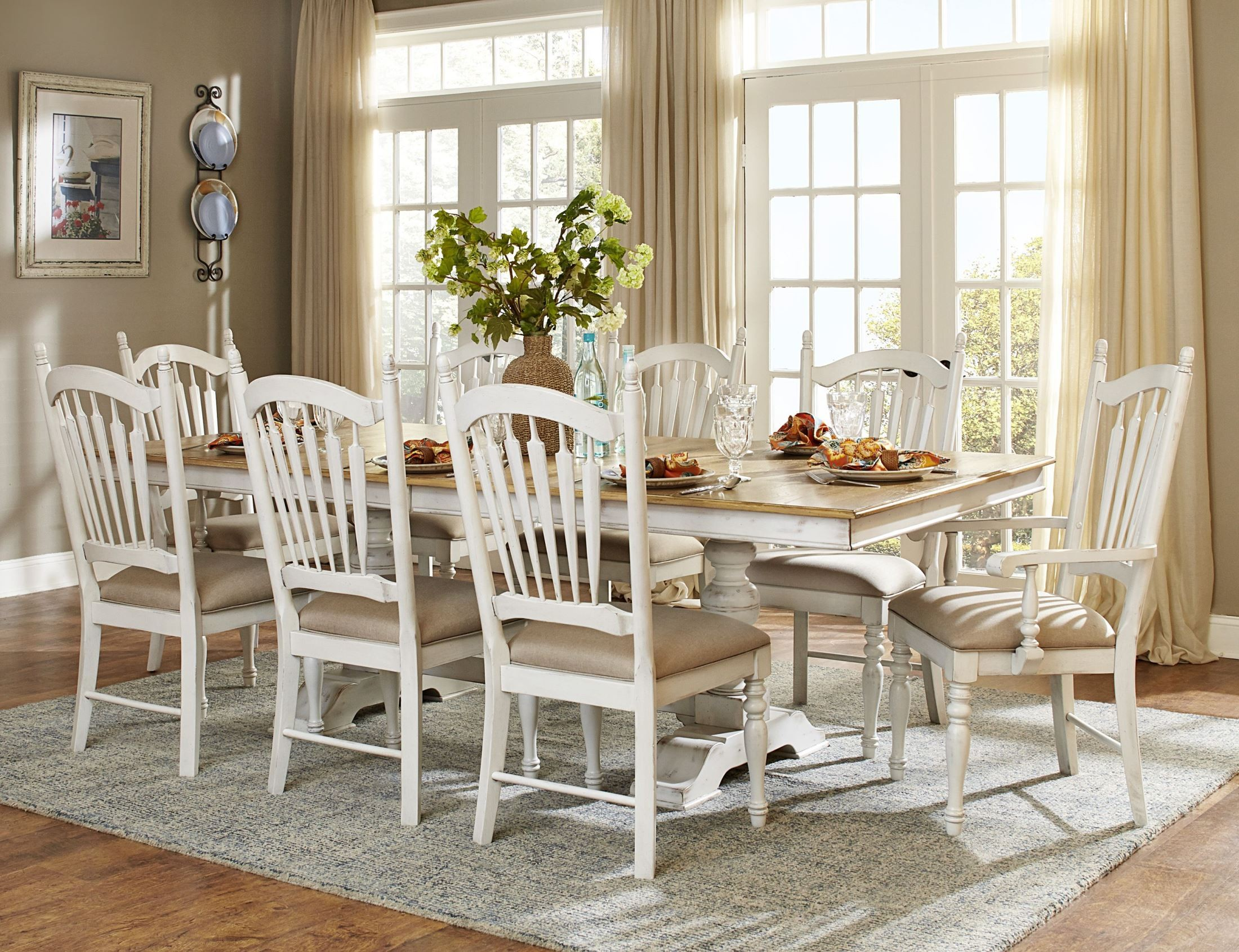 white distressed dining chairs ergonomic chair uplift hollyhock room set from