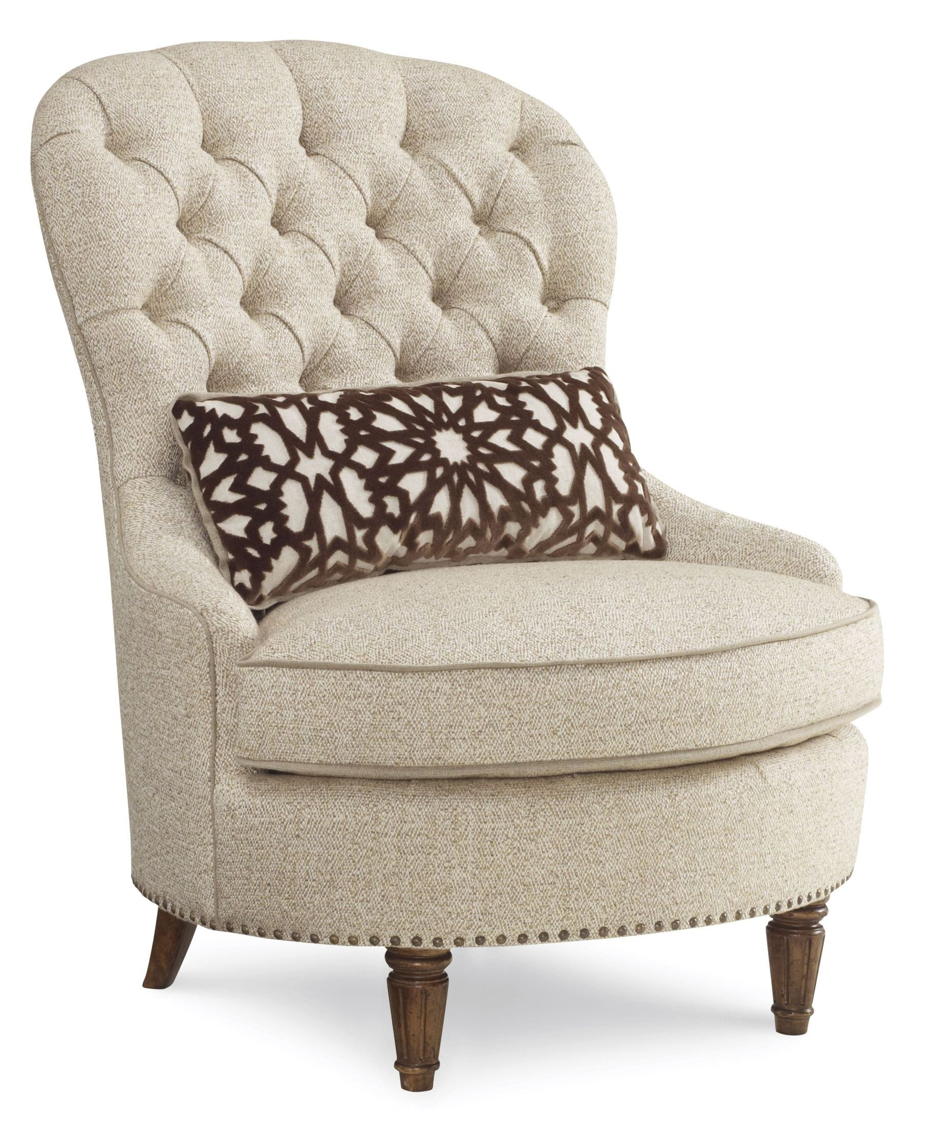 White Tufted Accent Chair Collection One Upholstered Tufted Accent Chair From Art