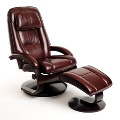 Reclining Chair With Ottoman Leather Big And Tall Office 500 Lbs Capacity Oslo Merlot Burgundy Top Grain Swivel Recliner