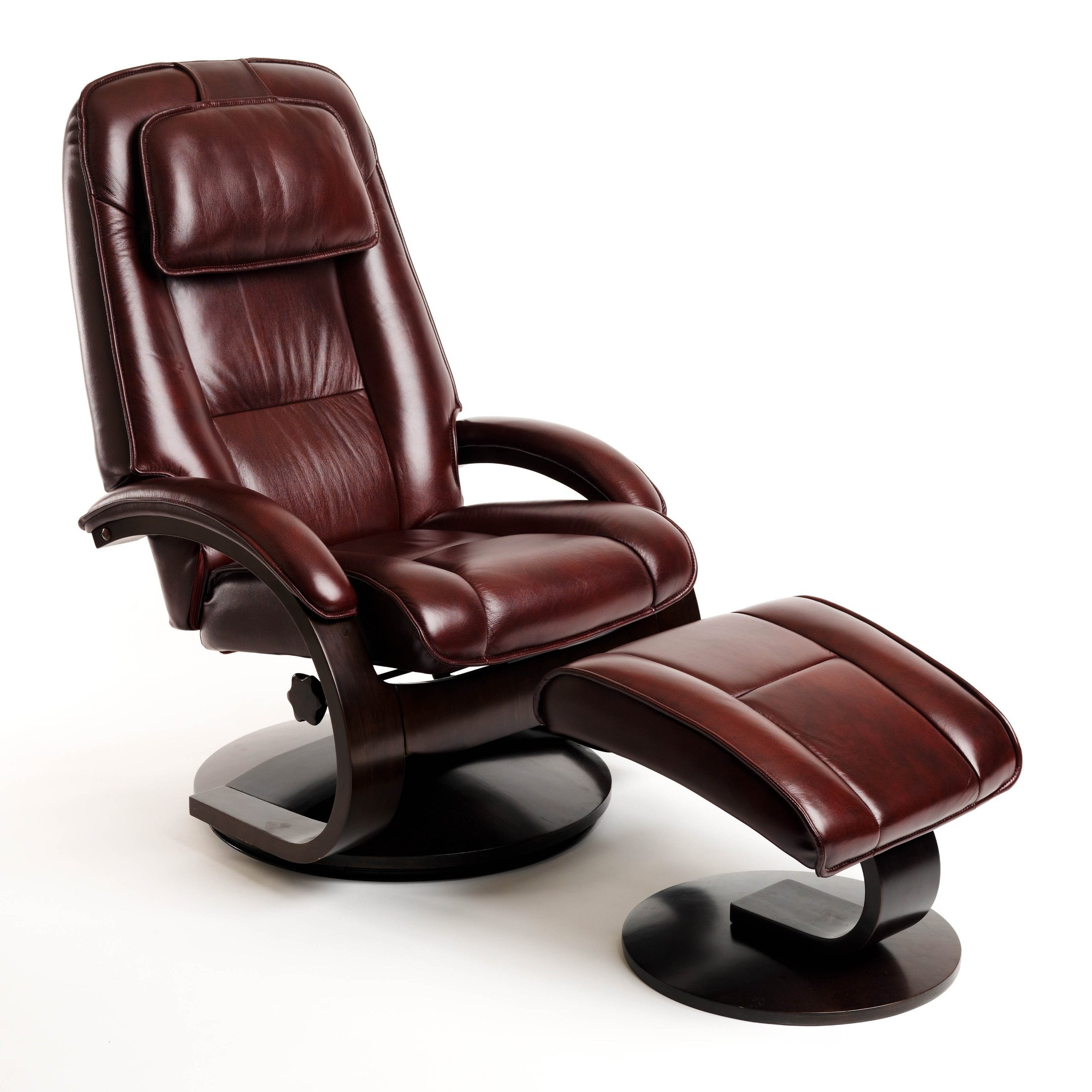 recliner chair with ottoman manufacturers covers and table cloth hire oslo merlot burgundy top grain leather swivel