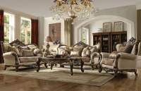 Latisha Tan Pattern Living Room Set from Acme | Coleman ...
