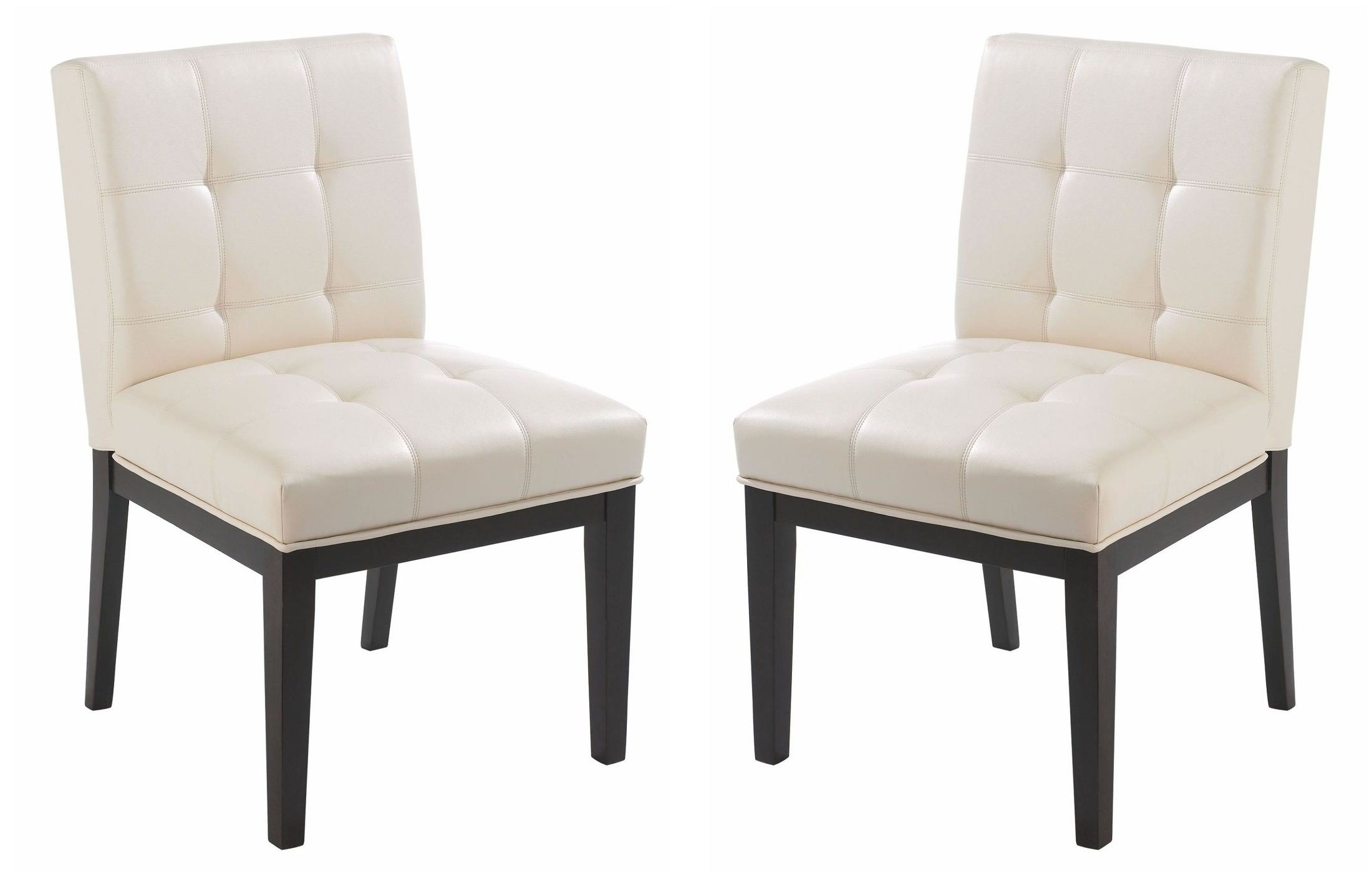 faux leather dining chairs beach chaise lounge felicia cream chair set of 2 from