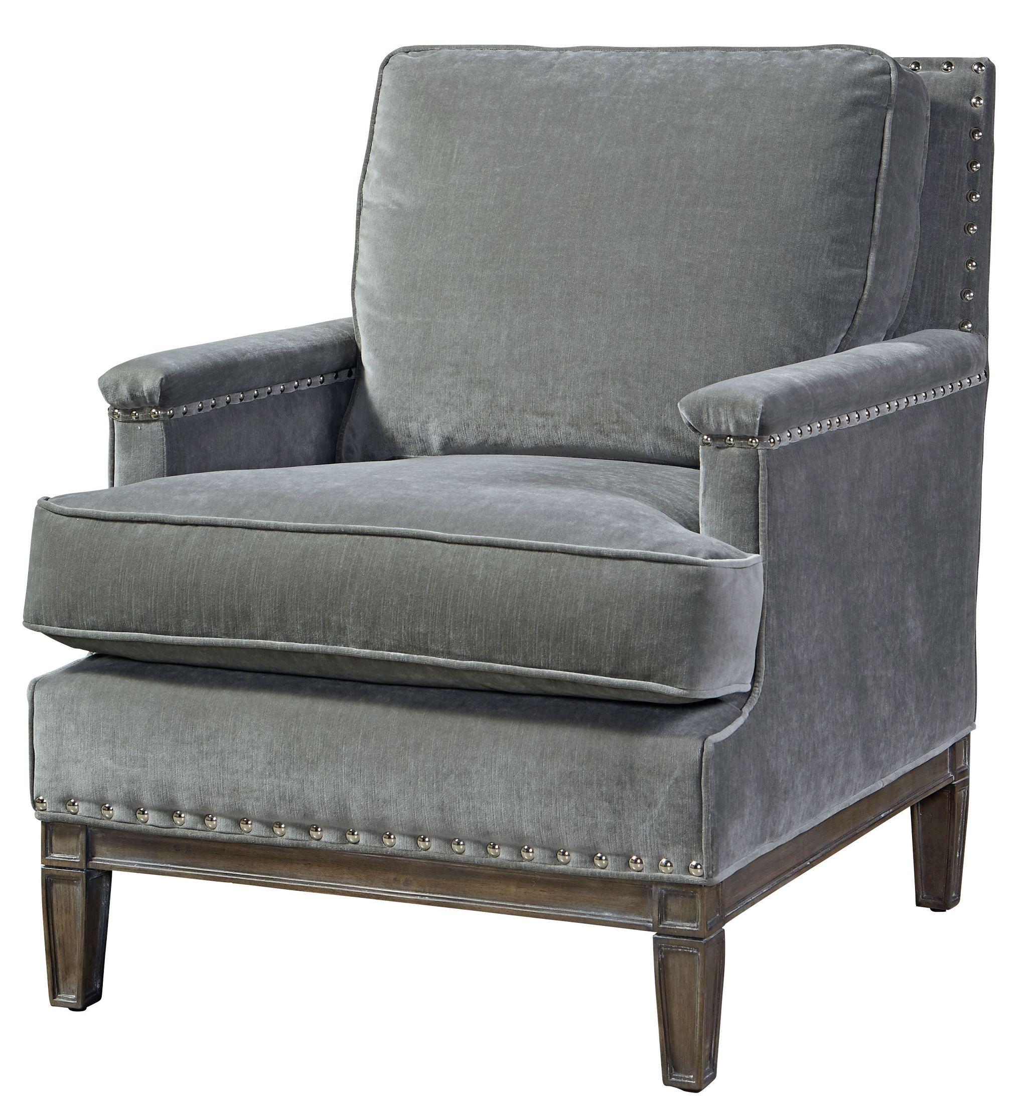 Prescott Gray Velvet Chair from Universal  Coleman Furniture