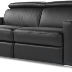 Valencia Black Recliner Leather Sofa Luxury Classic Ellie Top Grain Reclining From Moroni