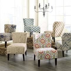 Floral Print Accent Chairs Adirondack Rocking Resin Living Room Peenmedia