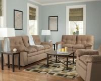 Ashley Mercer Mocha Living Room Set - 53800 - Living Room ...