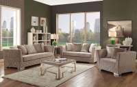 Tamara Beige Velvet Living Room Set from Acme   Coleman ...