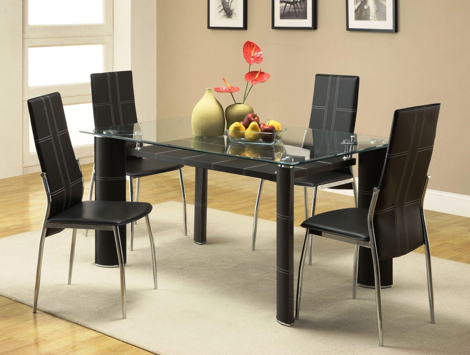 Wilner Rectangular Glass Top Dining Table From Homelegance