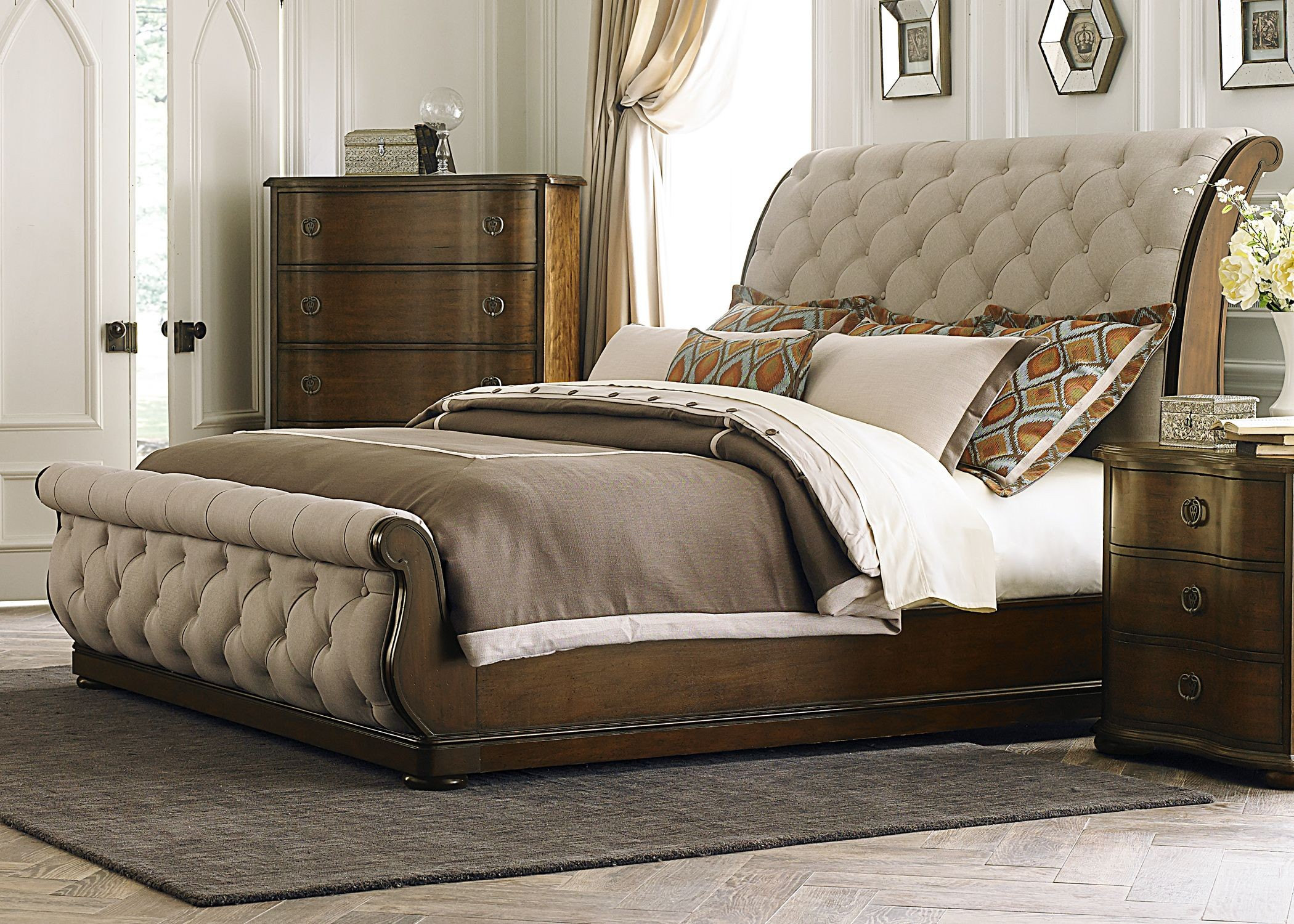 Cotswold King Upholstered Sleigh Bed From Liberty 545 Br