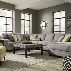 Sofa With Cuddler And Chaise Mitc Gold Slipcovers Cresson Pewter Raf Large Sectional From Ashley ...