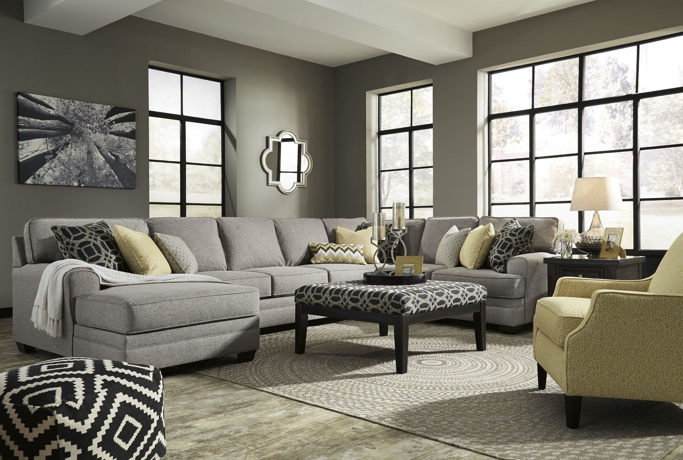 Cresson Pewter LAF Large Chaise Sectional from Ashley  Coleman Furniture
