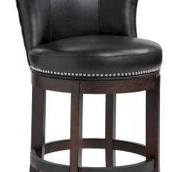 Swivel Bar Chairs Small Antique Rocking Chair Tavern Black Leather Counter Stool 54922 Sunpan