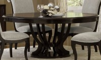 Savion Espresso Round Pedestal Extendable Dining Table