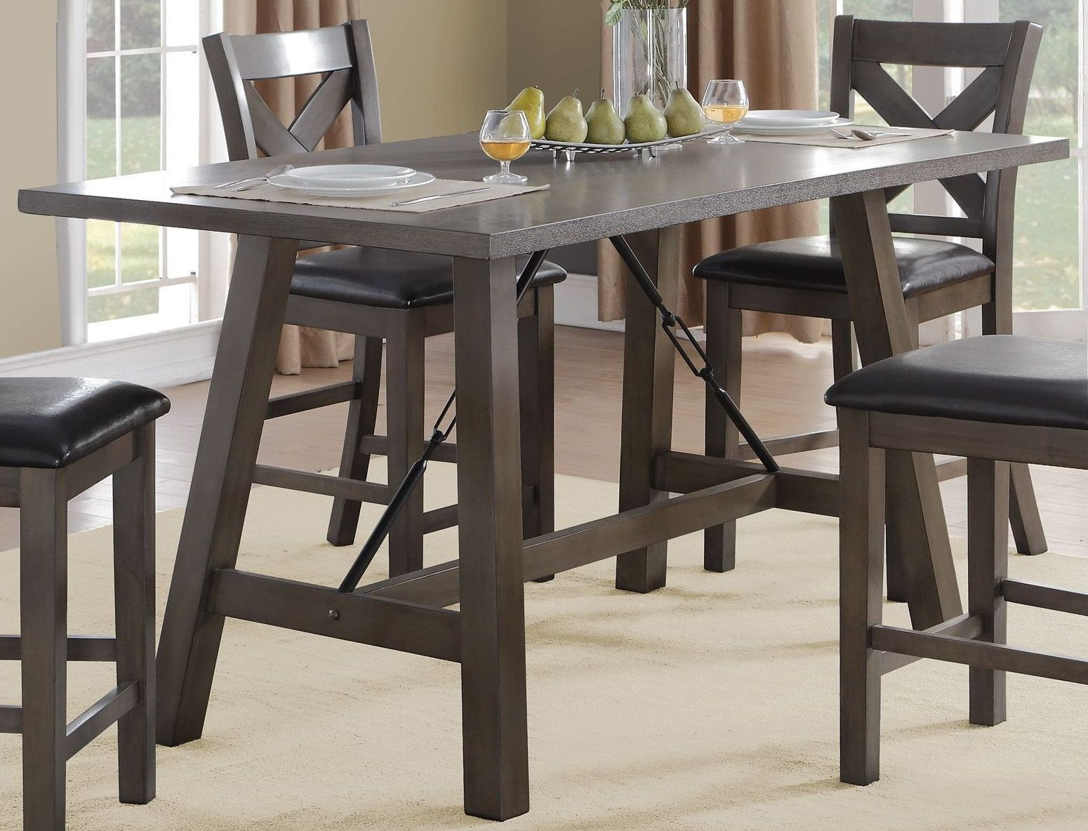Seaford Black Counter Height Dining Table from Homelegance