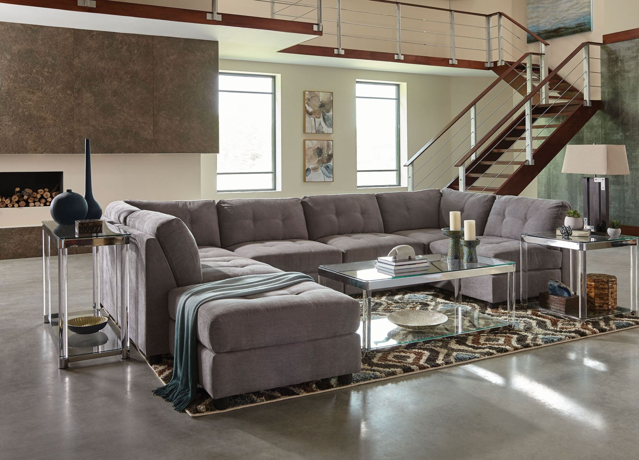 Claude Gray Sectional from Coaster  Coleman Furniture