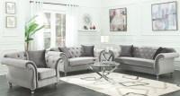 Frostine Silver Living Room Set, 551161, Coaster Furniture