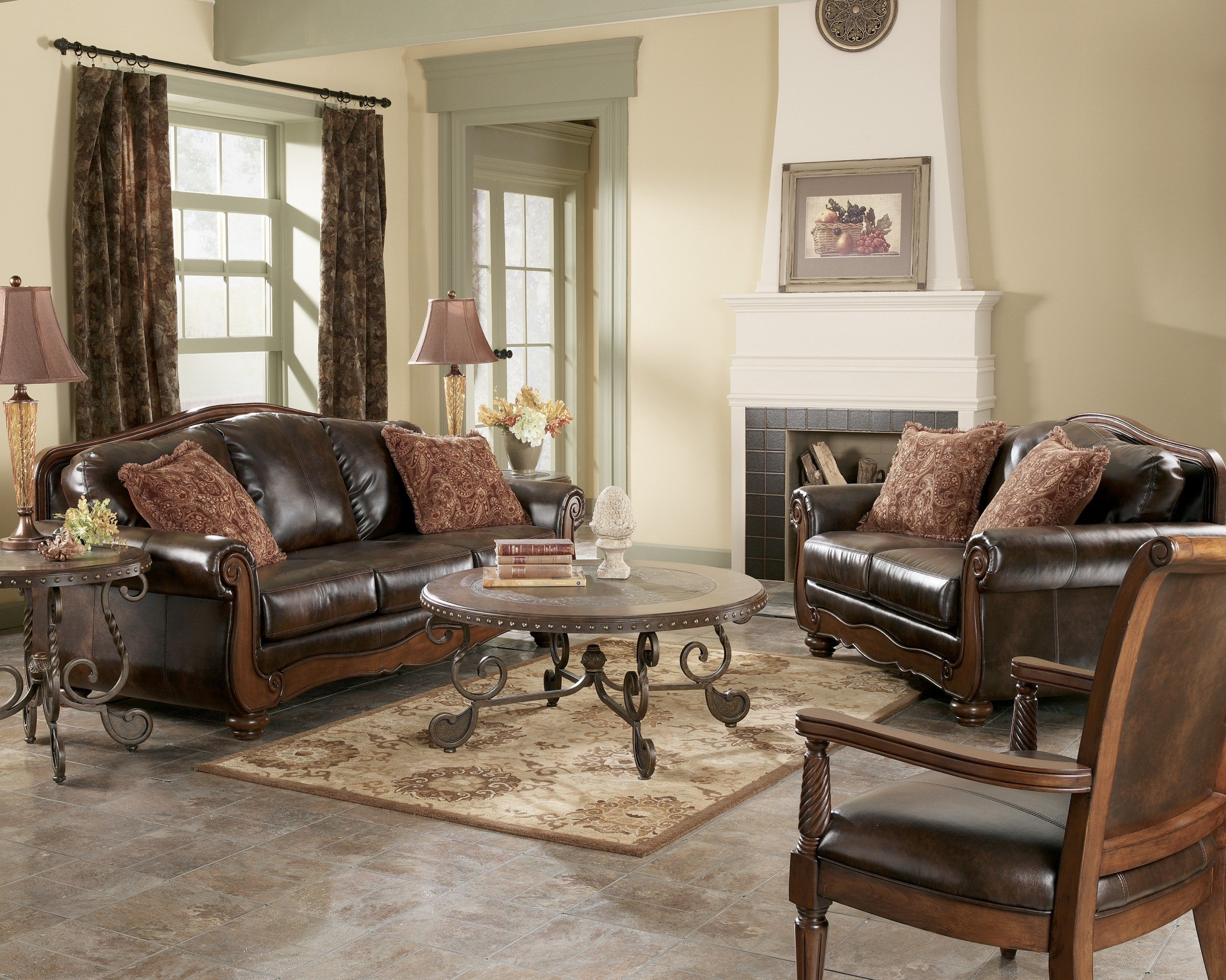 antique living room chair styles beach chairs tommy bahama barcelona set from ashley 55300
