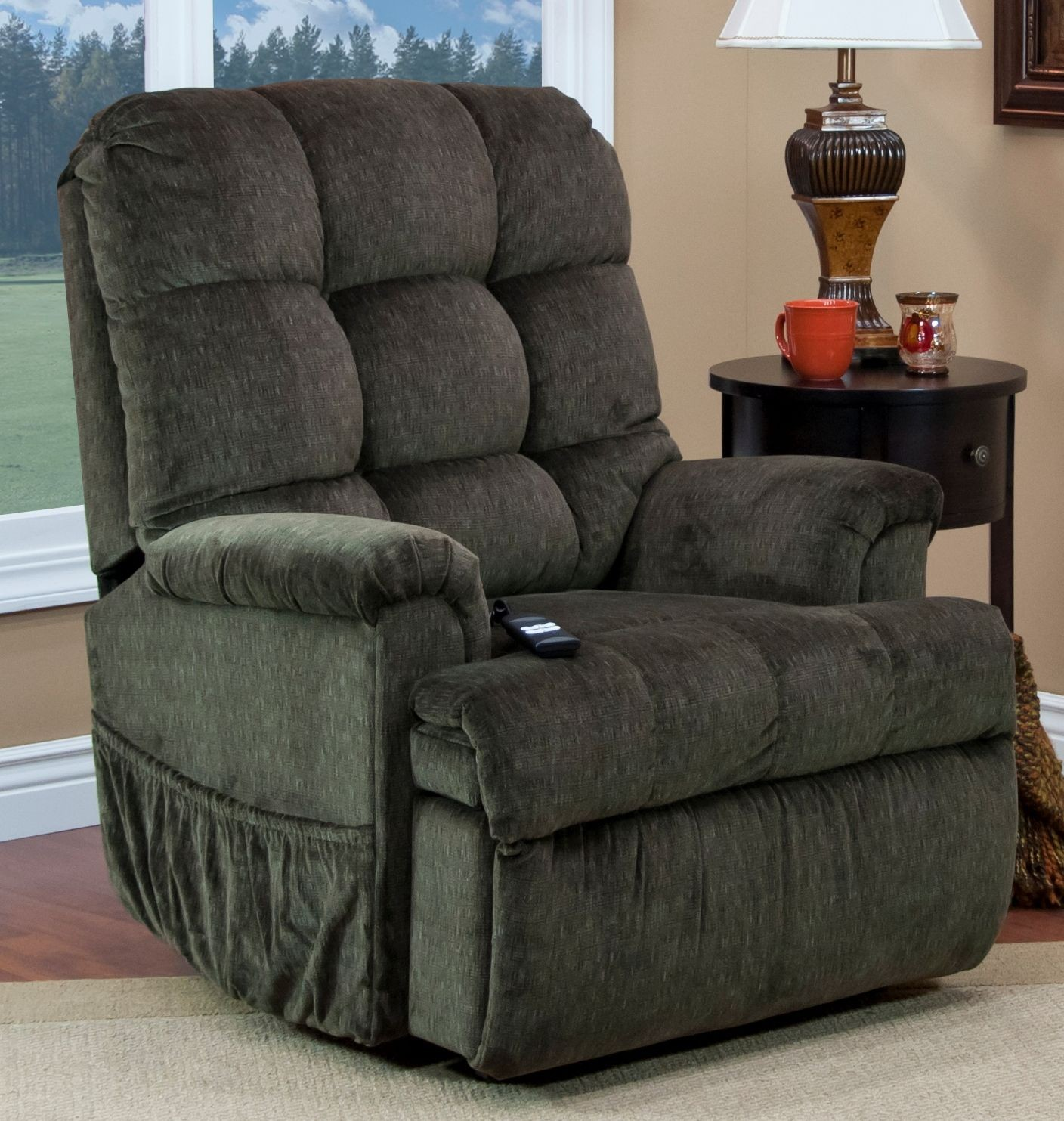 Med Lift Chairs Cabo Godiva Tufted Sleeper Reclining Lift Chair From Med