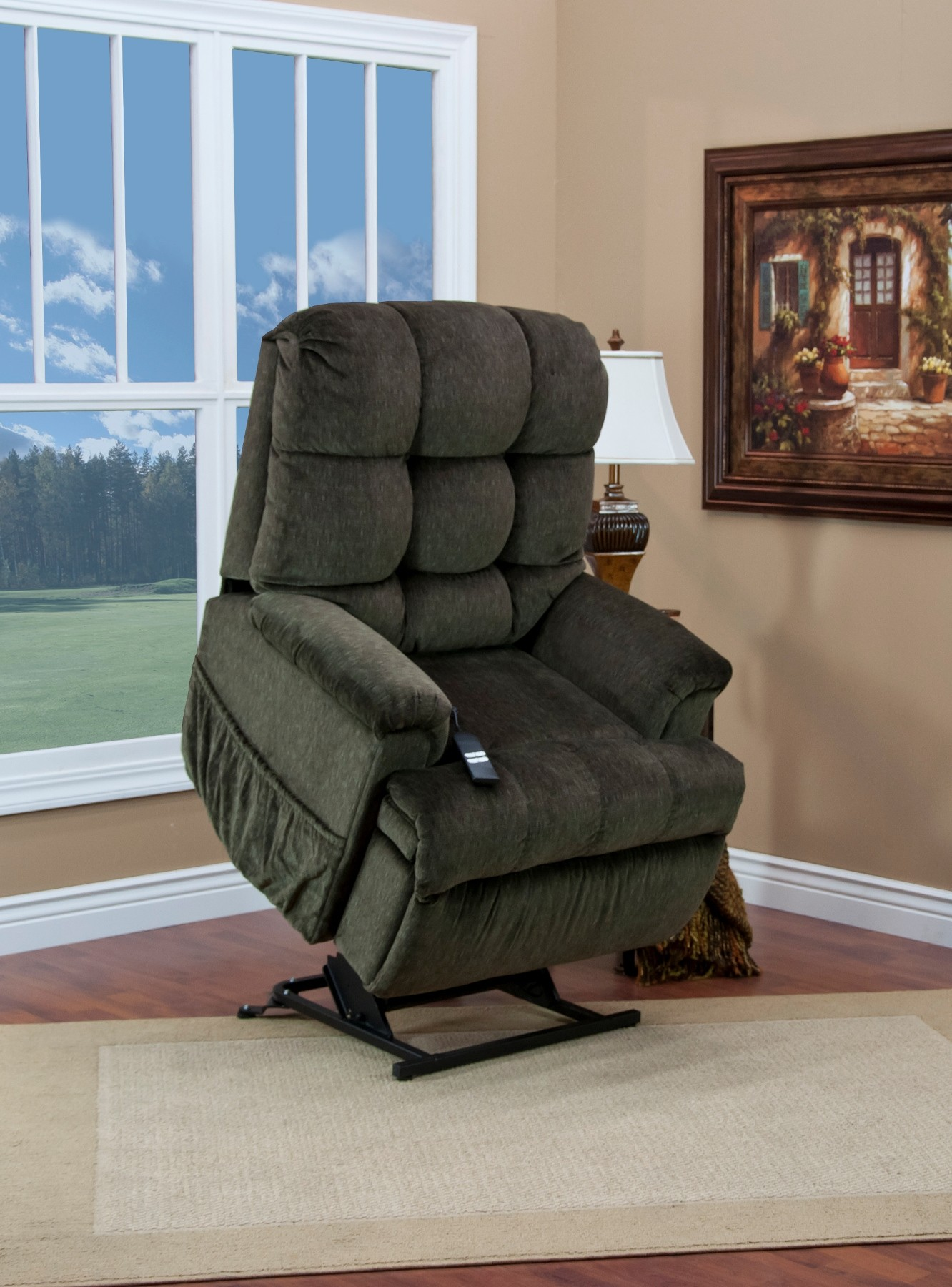 Med Lift Chairs 5555 Series Petite Sleeper Reclining Cabo Lift Chair From